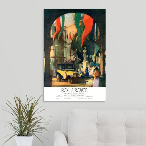 20 In X 30 In 1920 S Uk Rolls Royce Magazine Advert By Advertising Archives Canvas Wall Art
