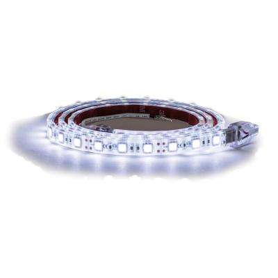 132 in. Clear Cool LED Strip Light with 3M Adhesive Back