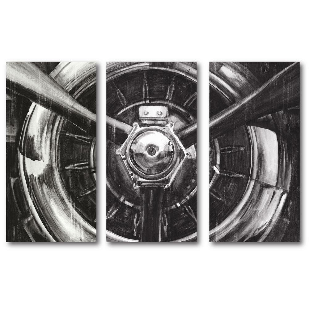 3 24 In X 36 Panels Vintage Propeller Canvas