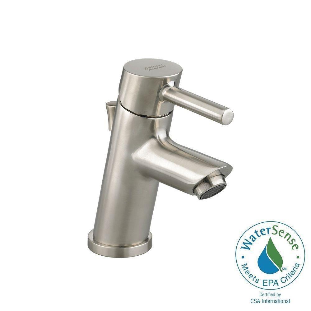 American Standard Serin Petite Monoblock Single Hole Single Handle Bathroom  Faucet In Brushed Nickel