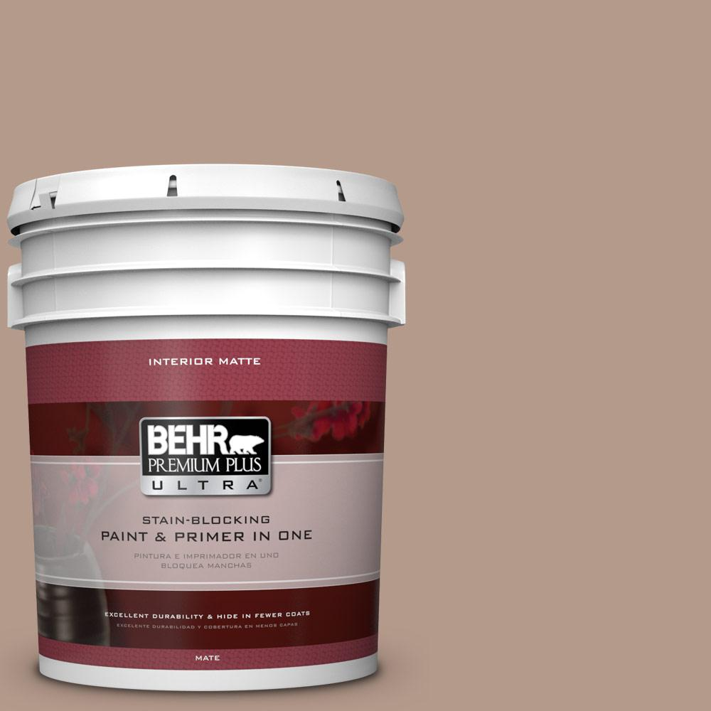 5 gal. #PMD-77 Rich Taupe Flat/Matte Interior Paint