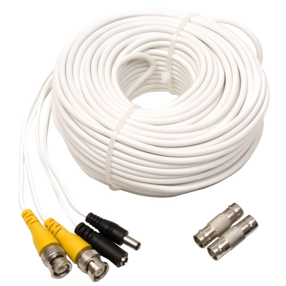 200 ft. Shielded Video and Power BNC Male Cable with 2-Female