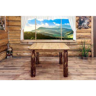 Glacier Country Stained and Lacquered Dining Table