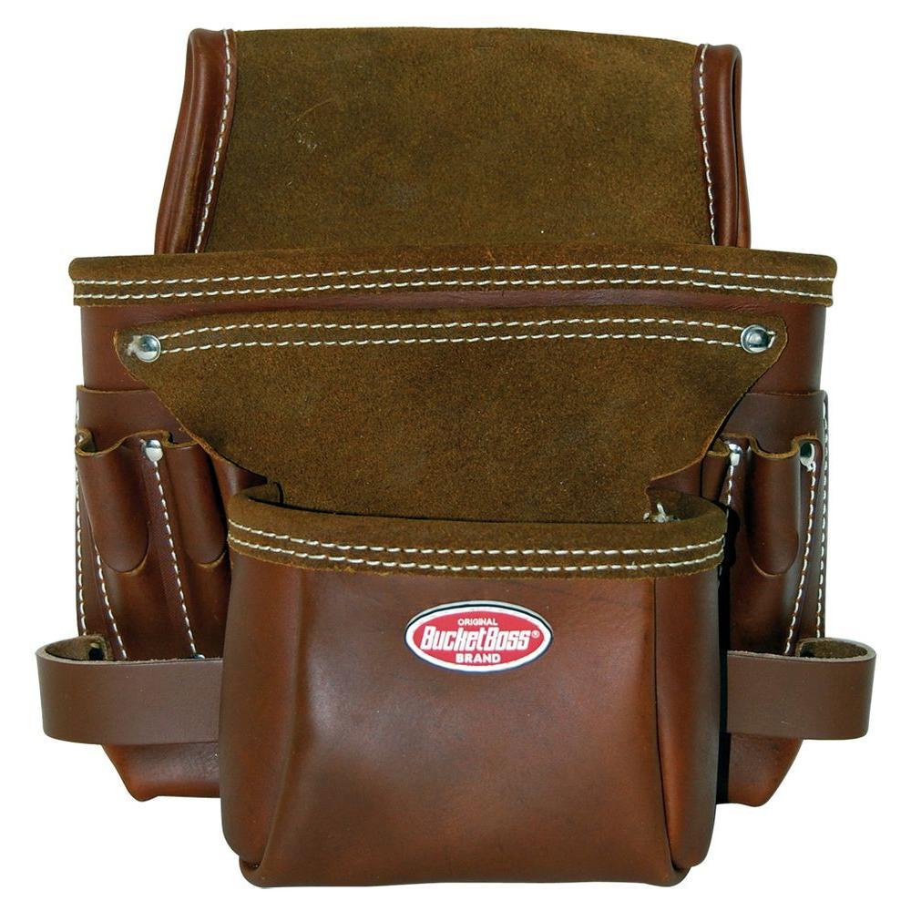 Bucket Boss Oil Tanned Nail Bag 9 Pocket by Bucket Boss