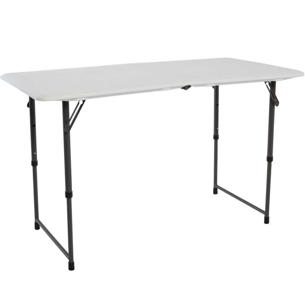 Lifetime White Adjustable Folding Table