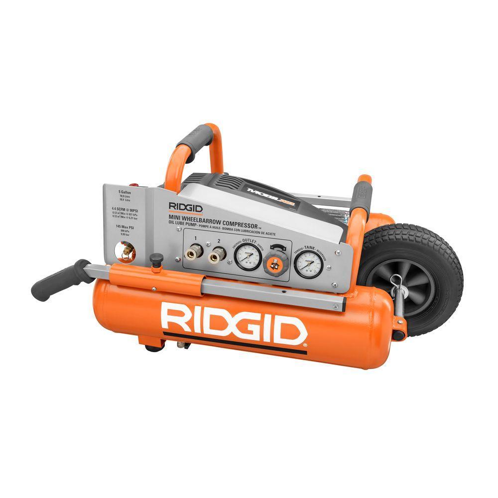 RIDGID 5-Gal. Mini Wheelbarrow Air Compressor-DISCONTINUED