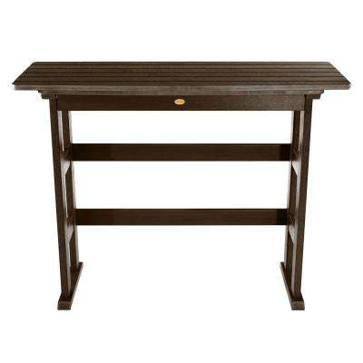 Lehigh Weathered Acorn Rectangular Recycled Plastic Outdoor Bar Height Dining Table