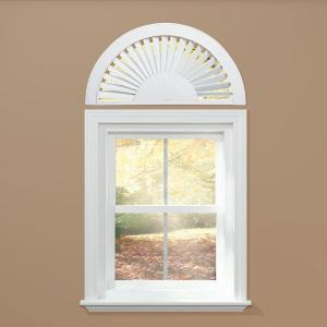 Homebasics Sunburst Style Faux Wood White Arch Price
