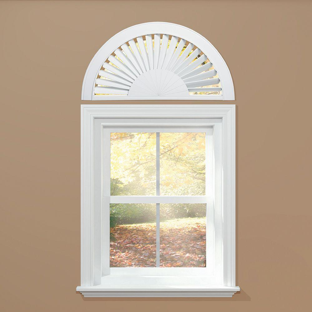 homeBASICS Sunburst Style Faux Wood White Arch (Price Var...
