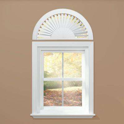 Sunburst Style Faux Wood White Arch (Price Varies by Size)