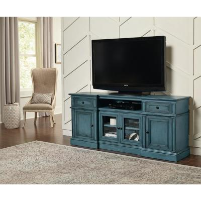Sullivan 72 in. Aged Blue Entertainment Console