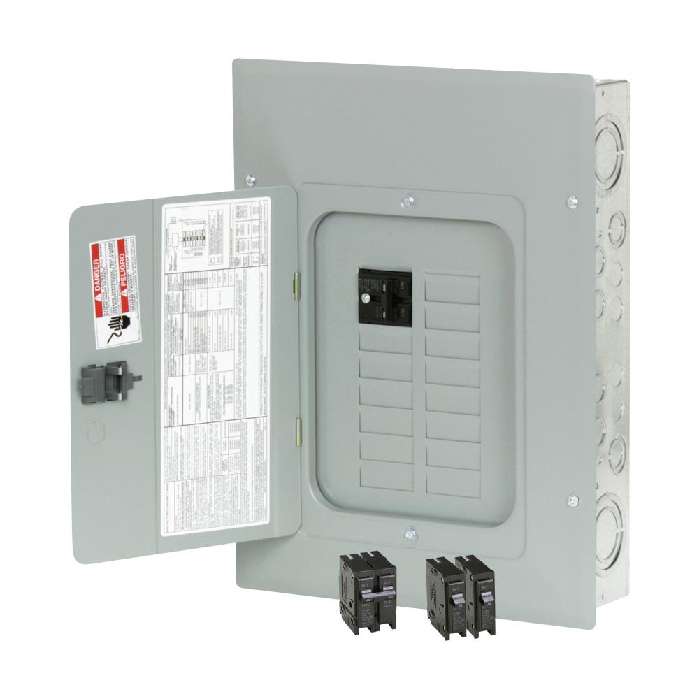 Br 100 Amp 24 Circuit Main Breaker Outdoor Plug On Neutral Load Center Contractor Kit 2 Br120 And 1 Br230