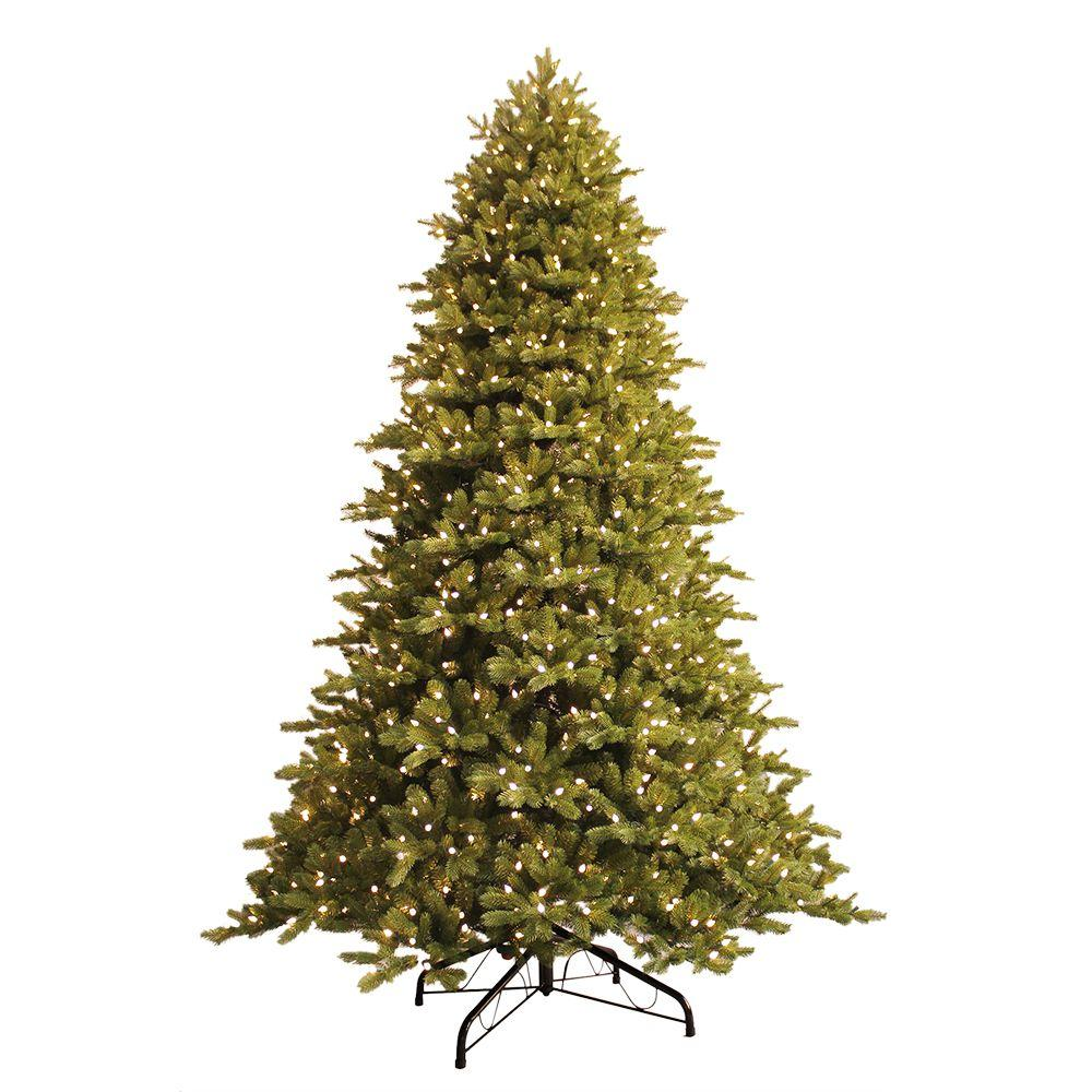 just cut norway spruce ez light artificial christmas tree with 1000 color - Christmas Trees With Lights