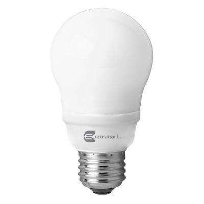 60W Equivalent Bright White (3500K) A19 CFL Light Bulb (4-Pack)
