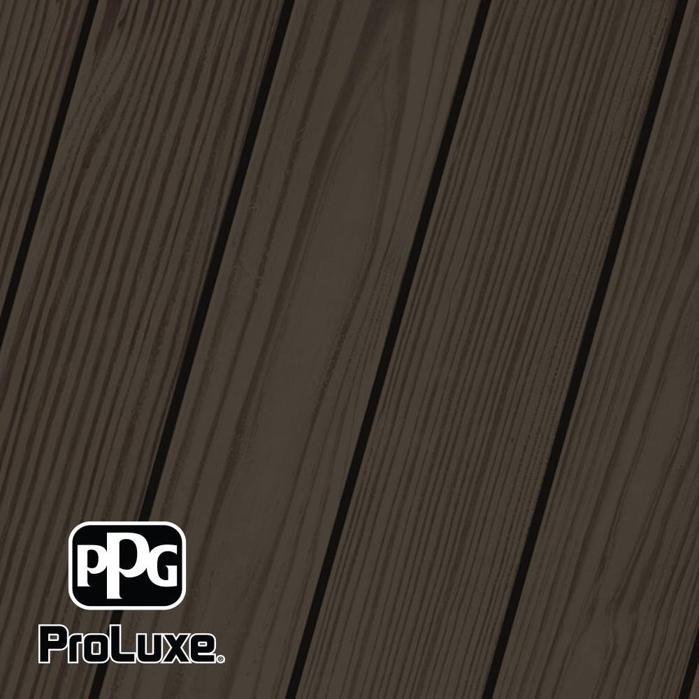 PPG ProLuxe 1 gal. #HDG-ST-58 Oxford Brown SRD Exterior Semi-Transparent Matte Wood Finish