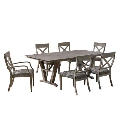 Farmingham 7-Piece Aluminum Outdoor Dining Set with Padded Seats