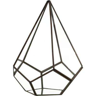 Mika 6 in. x 6 in. Glass Faceted Pyramid Terrarium