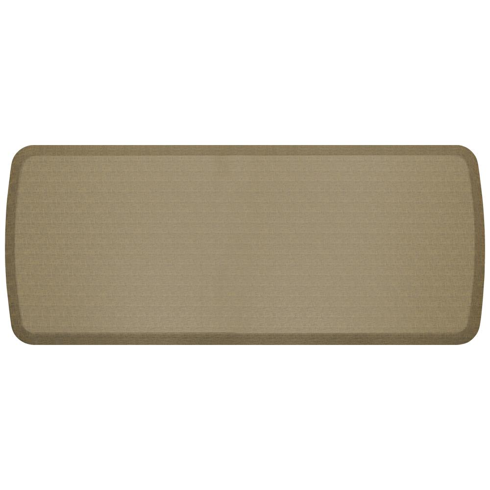 GelPro Elite Linen Sandalwood 20 in. x 48 in. Kitchen Comfort Mat