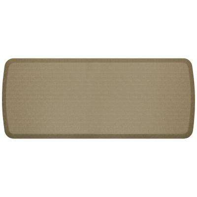 Elite Linen Sandalwood 20 in. x 48 in. Kitchen Comfort Mat