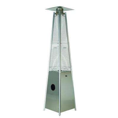 40,000 BTU Quartz Glass Tube Patio Flame Heater, Stainless Steel