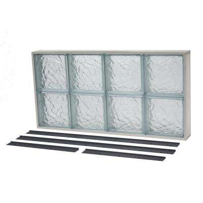 31.625 in. x 19.875 in. NailUp2 Ice Pattern Solid Glass Block Window