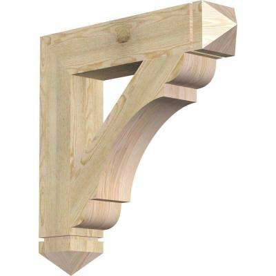 6 in. x 36 in. x 36 in. Douglas Fir Olympic Arts and Crafts Rough Sawn Bracket