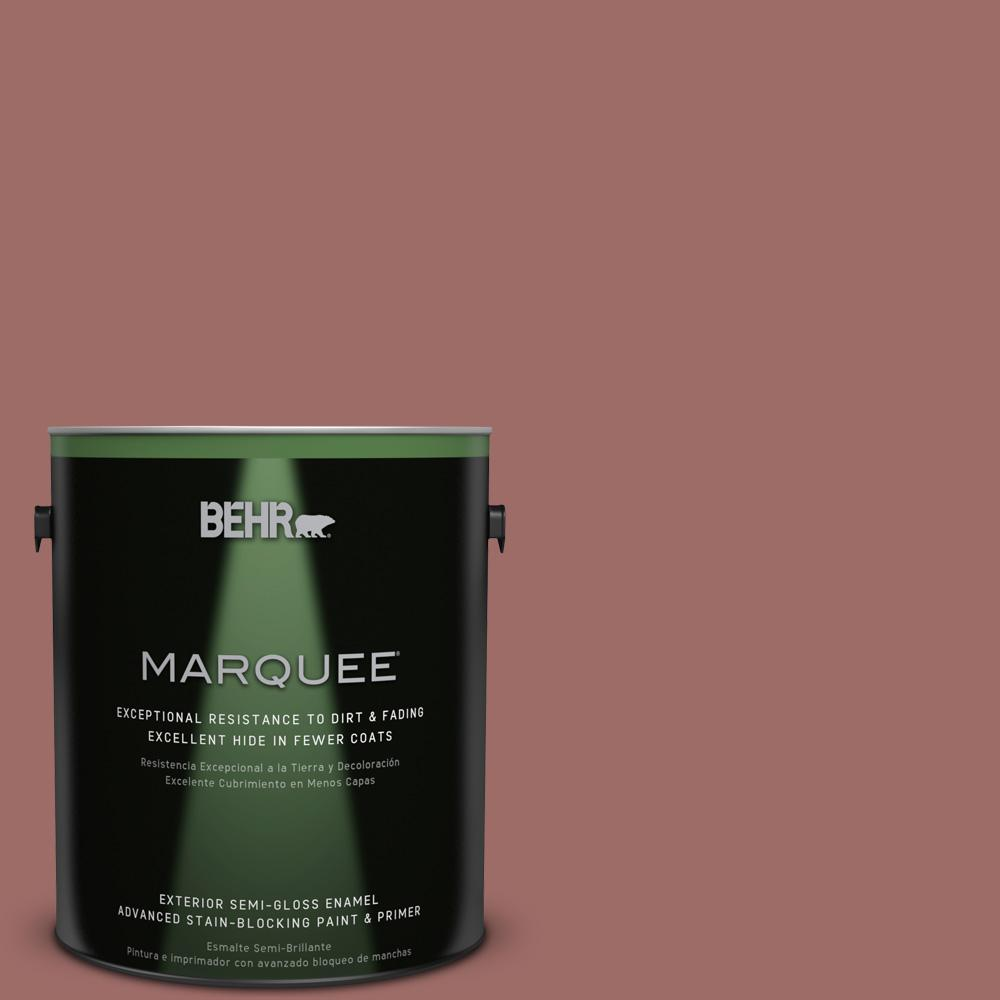 BEHR MARQUEE 1-gal. #190F-5 Brandy Semi-Gloss Enamel Exterior Paint