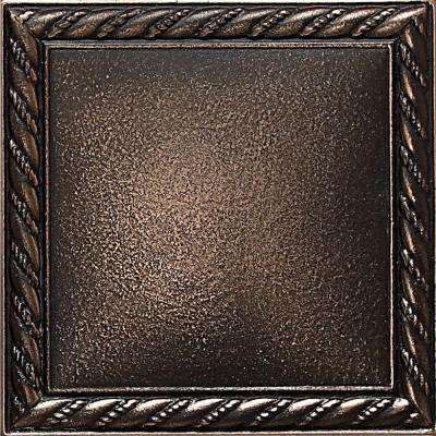 Ion Metals Antique Bronze 4-1/4 in. x 4-1/4 in. Composite of Metal Ceramic and Polymer Rope Accent Tile