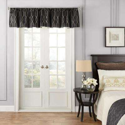 48 in. W x 18 in. L Yvon Blackout Polyester Window Valance in Raven