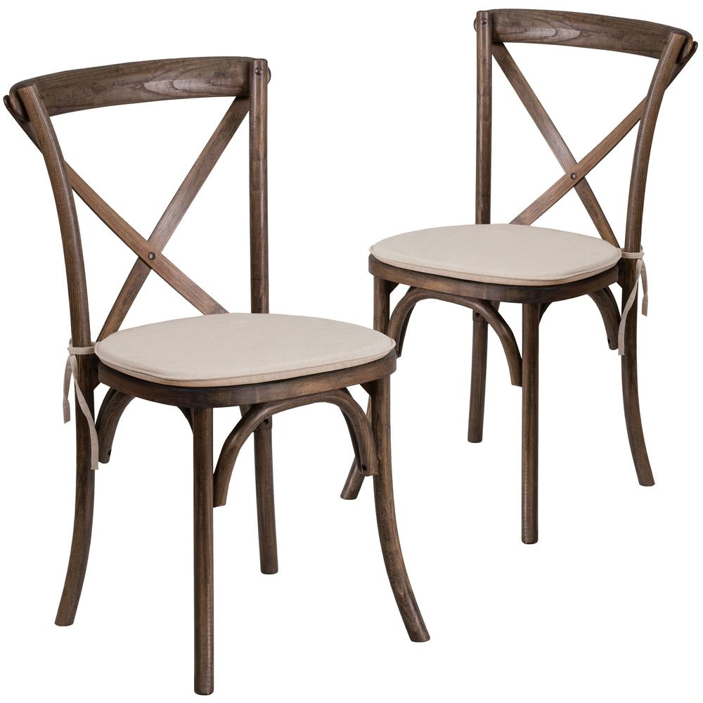 Groovy Early American Wood Cross Back Chair Set Of 2 Andrewgaddart Wooden Chair Designs For Living Room Andrewgaddartcom
