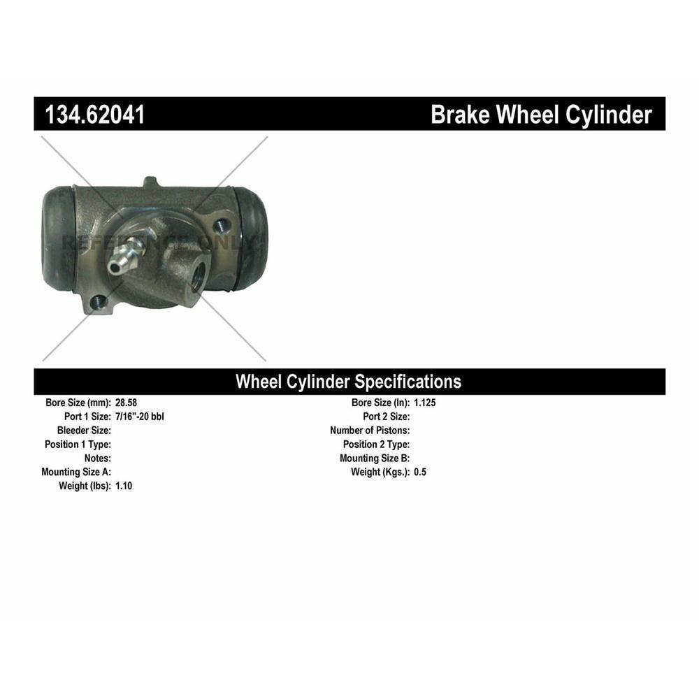 Centric 134.62041 Wheel Cylinder Direct Fit