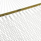 13 ft. Deluxe Polyester Patio Rope Hammock in White