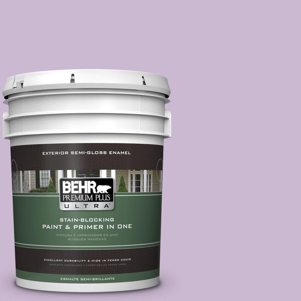 BEHR Premium Plus Ultra 5-gal. #660C-3 Sweet Petal Semi-Gloss Enamel Exterior Paint