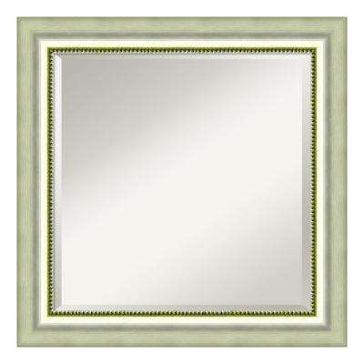 Vegas Burnished Silver Wood 25 in. W x 25 in. H Casual Framed Mirror