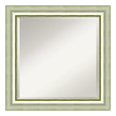 Medium Square Burnished Silver Casual Mirror (24.88 in. H x 24.88 in. W)