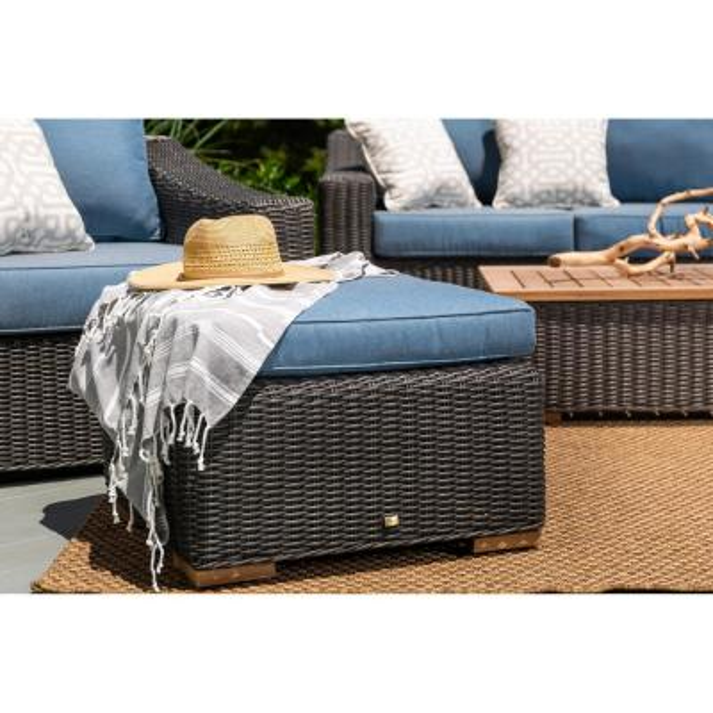 Sunbrella Outdoor Ottomans Outdoor Lounge Furniture The Home Depot