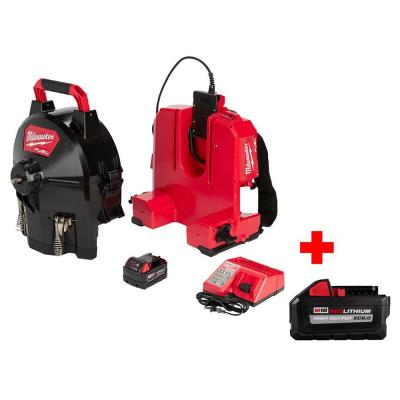 M18 Fuel 18-Volt Lithium-Ion Brushless Cordless 3/8 in. Switch Pack Sectional Drum System Kit W/ Free 8.0Ah Battery