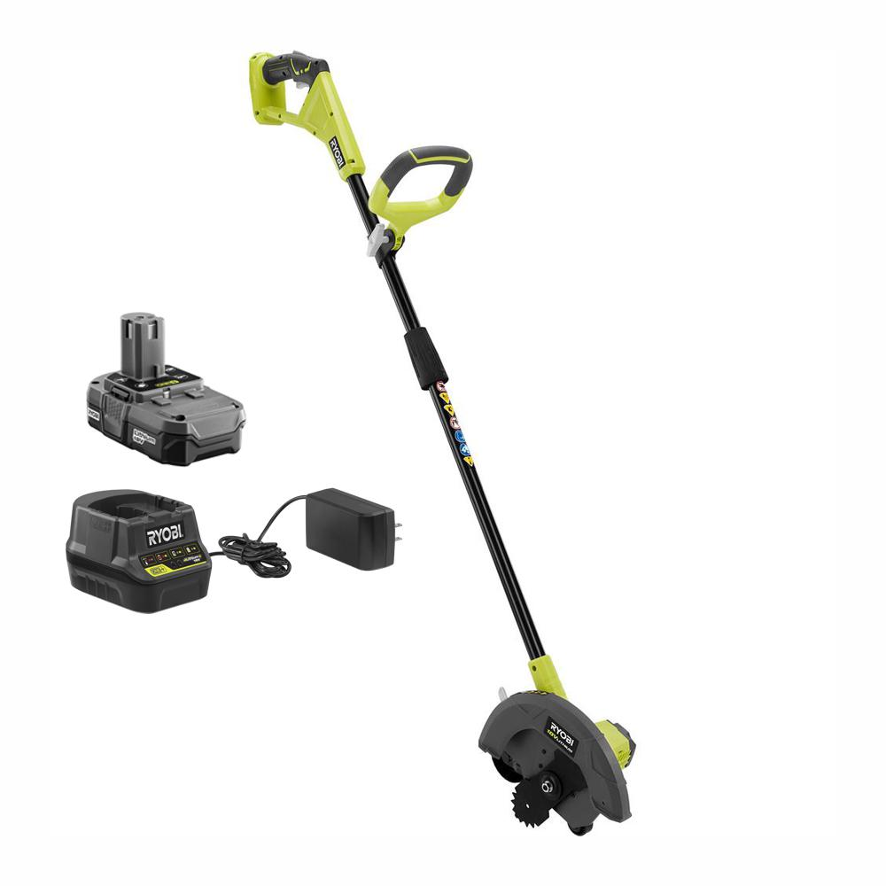RYOBI ONE+ 9 in. 18-Volt Lithium-Ion Cordless Edger - 1.3 Ah Battery and Charger Included