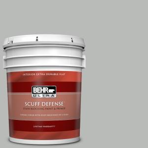 Behr Ultra 5 Gal T18 19 Quiet Time Extra Durable Flat Interior Paint Primer 172005 The Home Depot