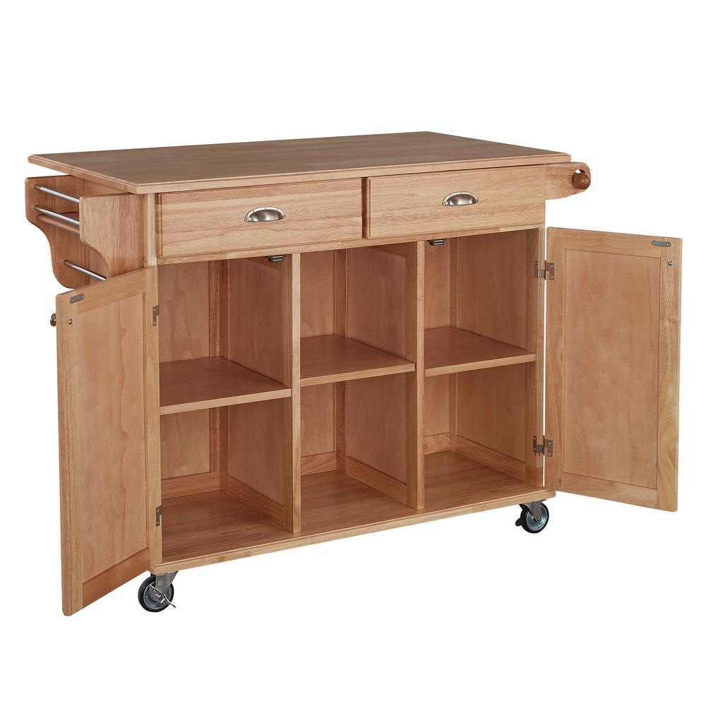 Internet #203131064. Home Styles Napa Natural Kitchen Cart ...