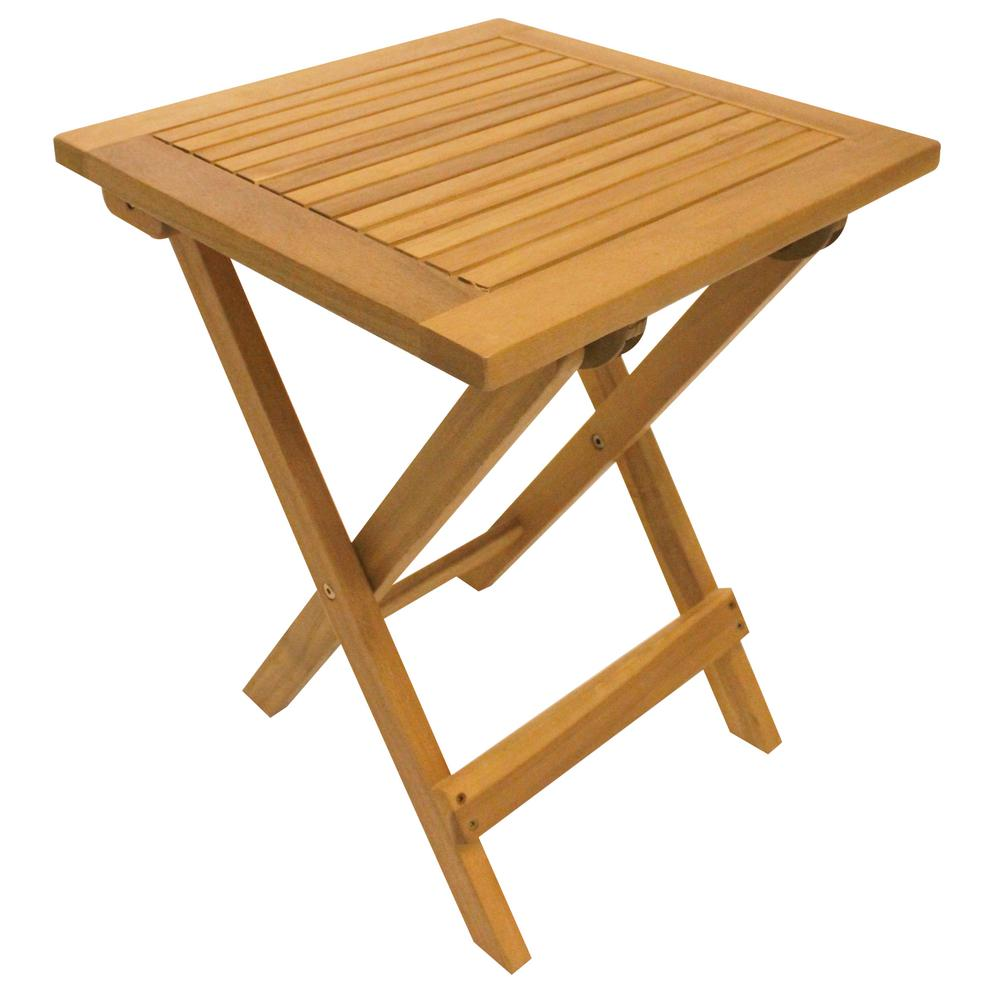 Leigh Country Natural Folding Adirondack Table TX 36604   The Home Depot