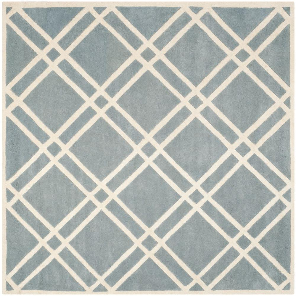 Safavieh Chatham Blue/Ivory 7 ft. x 7 ft. Square Area Rug