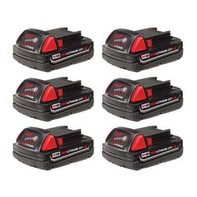 M18 18-Volt Lithium-Ion Compact Battery Pack 1.5Ah (6-Pack)