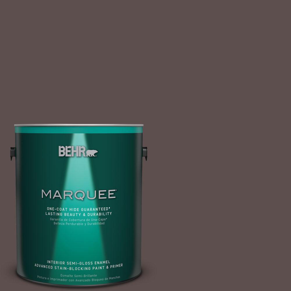 1 gal. #HDC-AC-07 Oak Creek One-Coat Hide Semi-Gloss Enamel Interior Paint