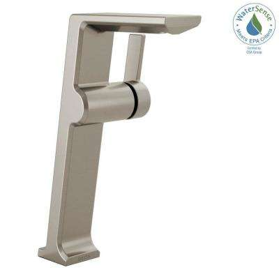 Pivotal Single Hole Single-Handle Vessel Bathroom Faucet in Stainless