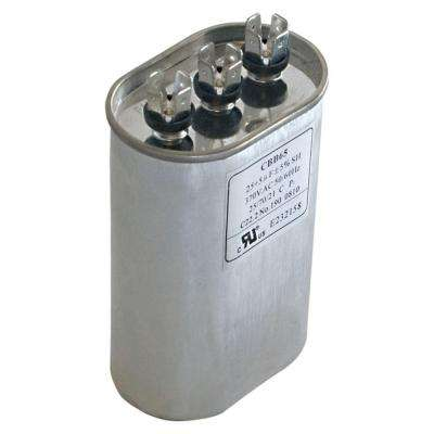 45/5 MFD 370 VAC Oval Dual Run Capacitor