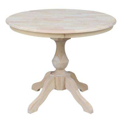 Sophia Ready to Finish 36 in. Unfinished Round Dining Table