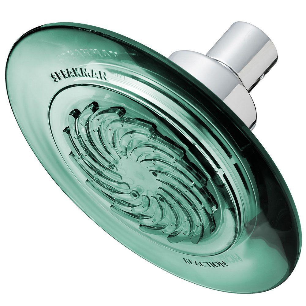 Reaction 1-Spray 5.5 in. Fixed Shower Head in Jade