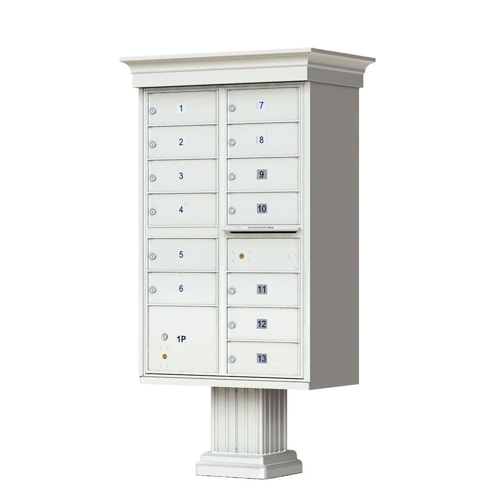 13 Mailboxes 1 Parcel Locker 1 Outgoing Pedestal Mount Cluster Box