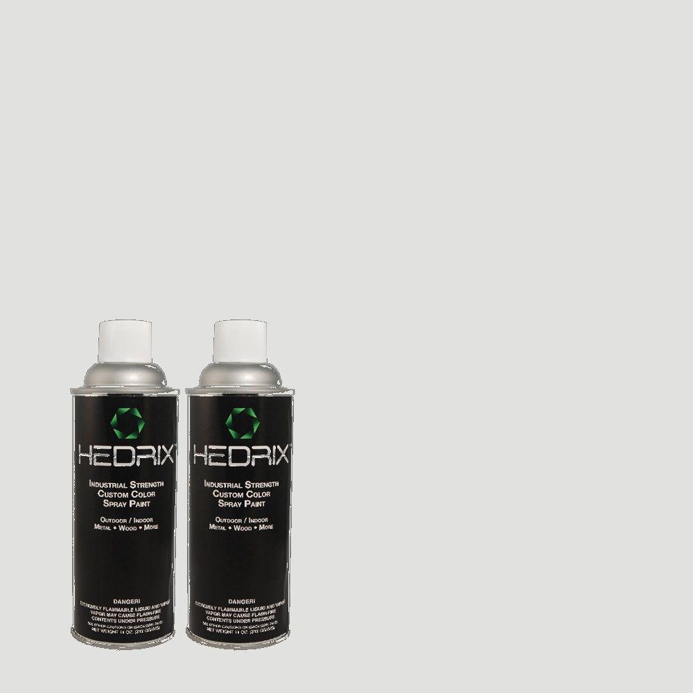 Hedrix 11 oz. Match of ECC-32-2 Beach Wind Flat Custom Spray Paint (2-Pack)